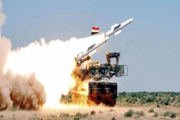 پدافند سوریه با پهپادهای متجاوز مقابله کرد