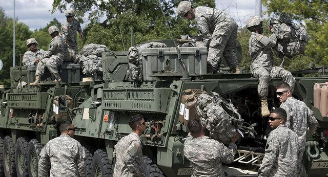 استقرار گردان تانک های آمریکایی در مرز لیتوانی و بلاروس