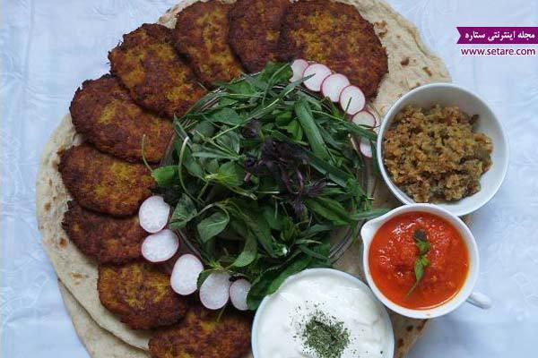 طرز تهیه کباب شامی با سیب زمینی
