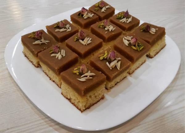 طرز تهیه کیک حلوا به شکل حرفه ای