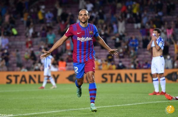 خلاصه بازی بارسلونا 4 ، 2 رئال سوسیداد؛ اولین برد پسامسی